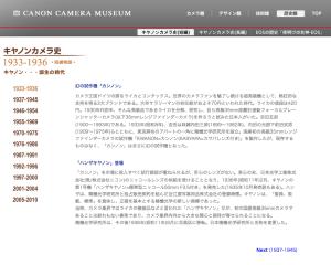 キヤノンカメラ史