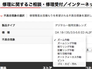 ペンタックスリコー:DA 18-135/3.5-5.6 ED AL[IF] DC WR修理概算料金