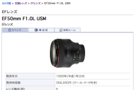 EF50mm F1.0L USM