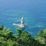 真夏のローソク島