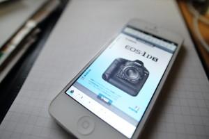 iphoneでデジカメ説明書
