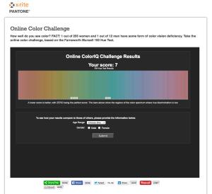 Online Color Challenge 結果の見方