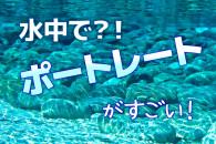 水中でポートレート