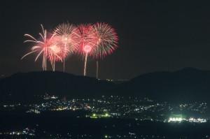奈良から大阪のPL花火を撮影