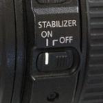 レンズの手ぶれ補正スイッチ