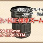 キヤノン純正安いズーム「EF24-105mmf3.5-5.6 IS STM」