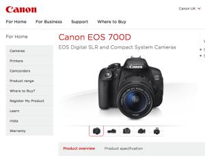 Canon EOS 700D - Canon UK